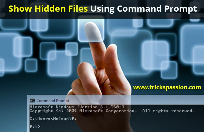 Show Hidden Files Using Command Prompt (100% Working)