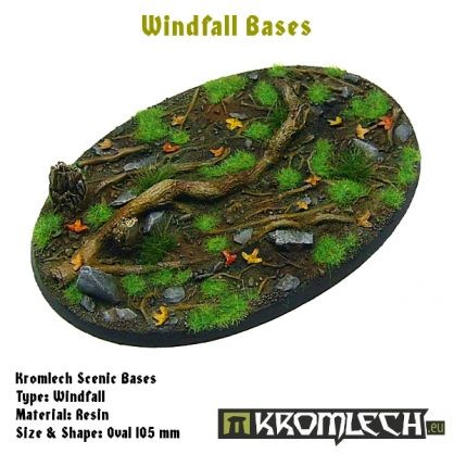 This set contains 1 oval 105 x 70 mm scenic base. Windfall theme.