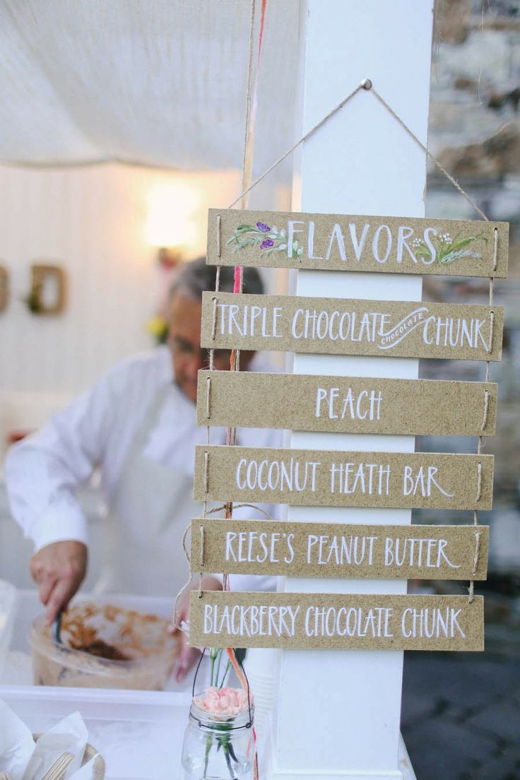 ice cream bar for a wedding
