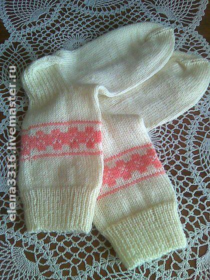 """Женские носочки """" Домашние"""" - вязание спицами,вязаные носки,вязаные носочки"""