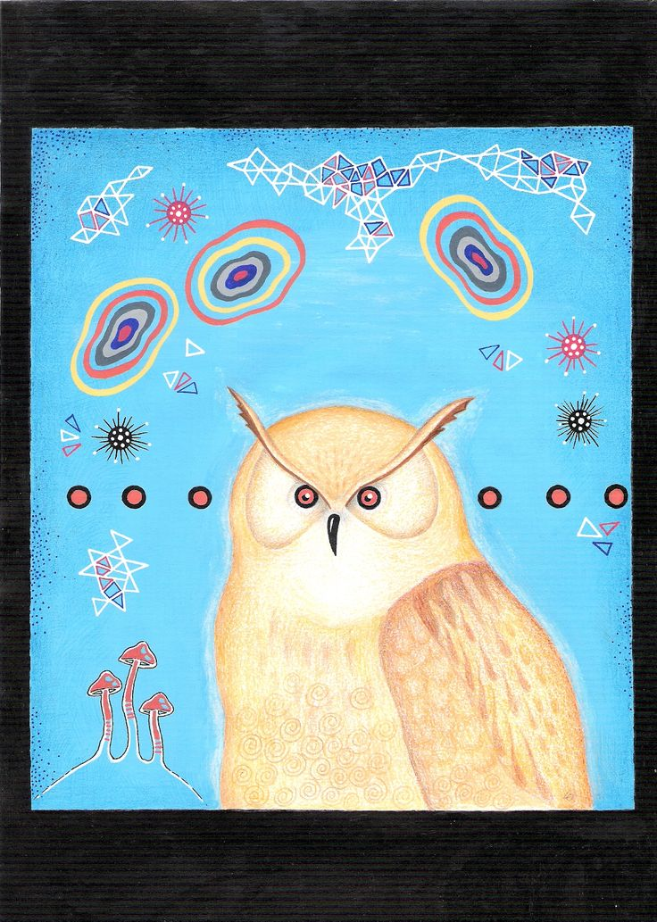 Psychedelic owl, lars overballe 2016