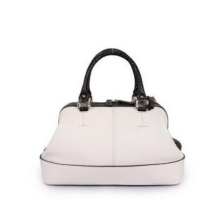 Celine Tote Bags CalfSkin White Pink Double handles Original ...