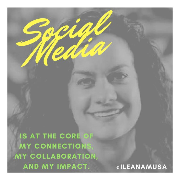 """""""Social Media is at the core of my connections, my collaborations, and my impact."""" - #IleanaMusa   My friend and colleague (Chair of #ALPFA Corporate Advisory Board and Women of ALPFA Council) #SocialCEO. If you're a user experience professional, listen to The UX Blog Podcast on iTunes."""