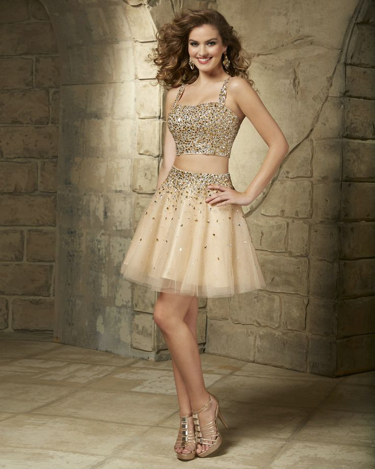 Champagne-Cocktail-Dresses-Gold-