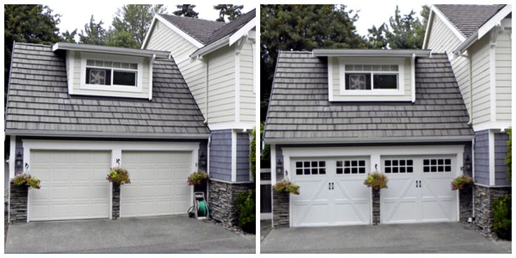 105 best garage doors images on pinterest architecture for Garage door curb appeal