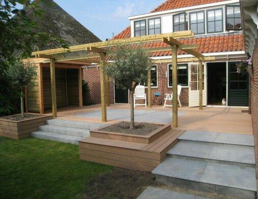 25 beste idee n over tuin trappen op pinterest buiten trapladder buiten trappen en landschap - Bedek een houten terras ...