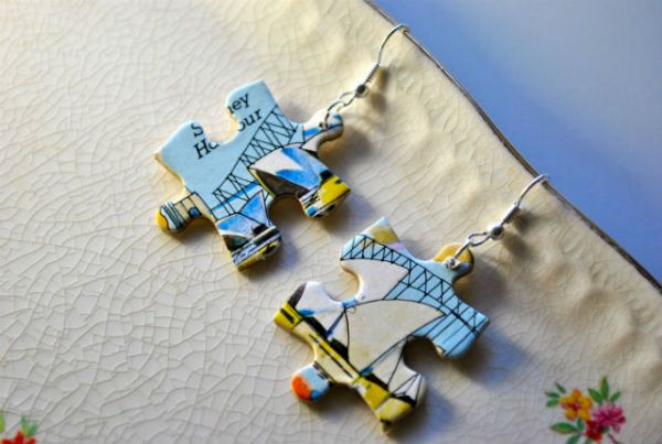 Recycle from puzzles & buttons!!  http://www.recyclart.org/2012/06/jigsaw-puzzle-jewellery/#