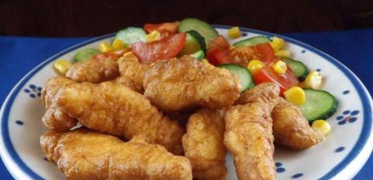 Recept: Egy ország kedvence! Csirkecsíkok fokhagymás bundában!