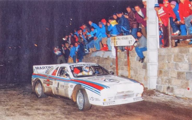 RALLY MONTECARLO 22/29 GENNAIO 1983 FRANCIA - MARKKU ALEN - ILKKA KIVIMAKI - LANCIA RALLY 037 MARTINI RACING