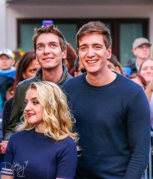 The Phelps twins and Evanna Lynch at Universal Orlando (credit Diana Kelly)
