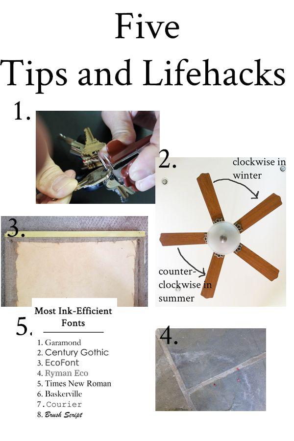 Tips And Lifehacks Five Tips Friday 8 Life Hacks Household