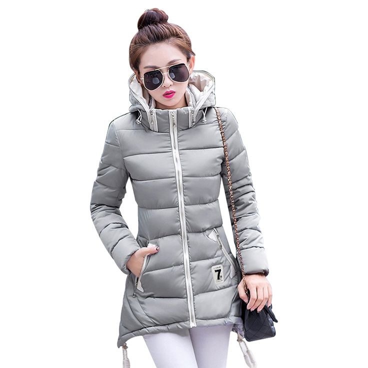 3XL Plus Size Women 2016 New Fashion cotton Coat Winter thick Jacket Women Outerwear Hooded parkas Light Jackets autumn Overcoat