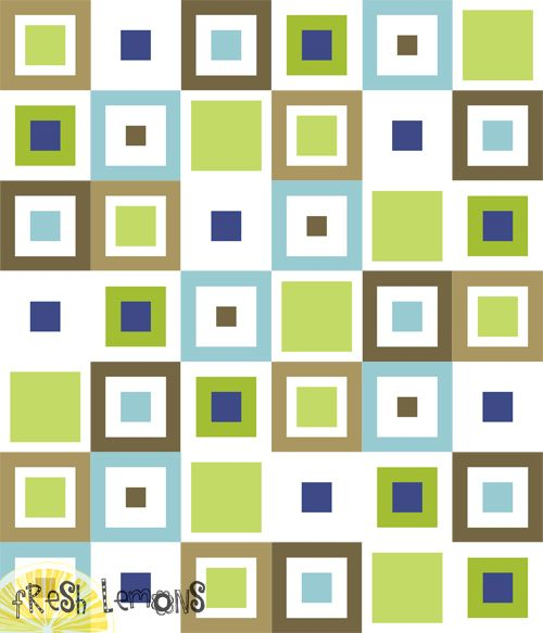 Lemon Squares Quilt pattern - six types of blocks.  Pattern on Fresh Lemons