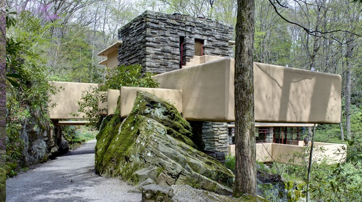 Frank Loyd Wright's Fallingwater - a side we do not normally see