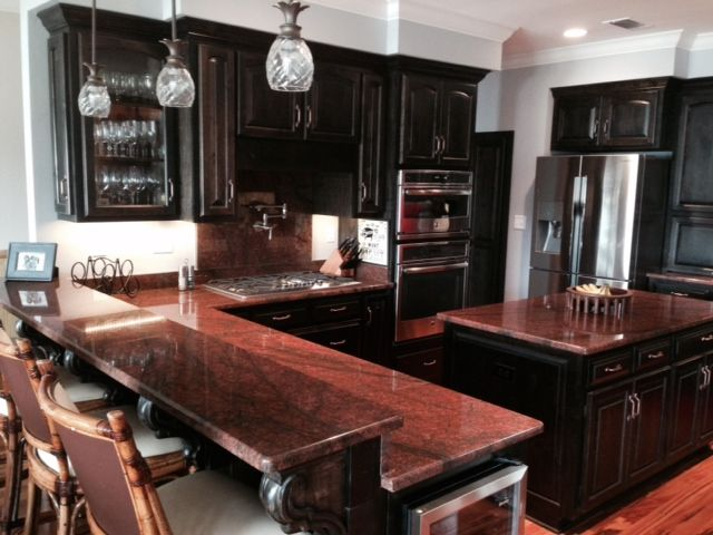 Walsh Residence Red Dragon Granite Counter Tops Done By GCR LLC Kitchens In 2019 Granite