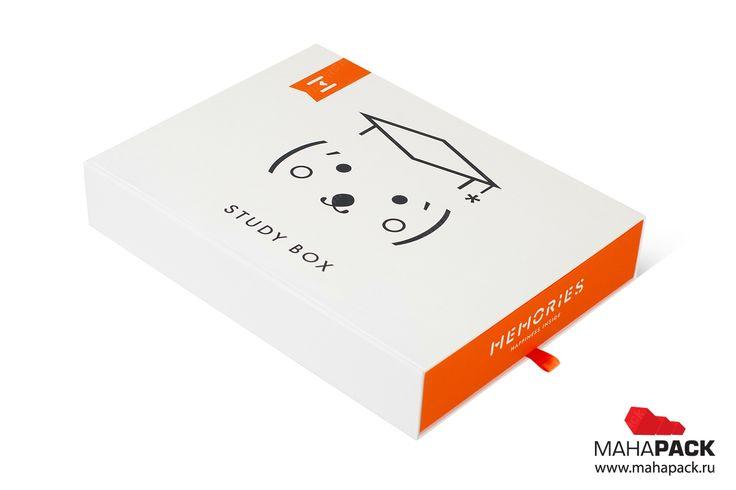 Кашированный пенал - капсула времени Memories под заказ  Study Box - gift packaging