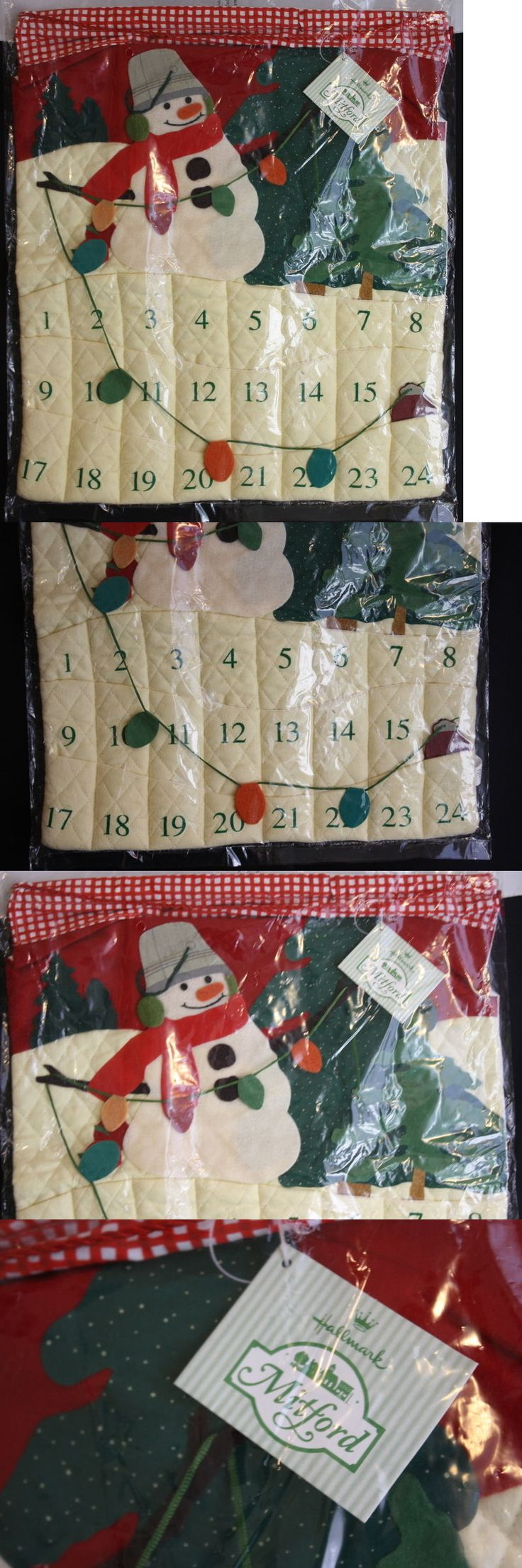 Advent Calendars 156813: 1999 Mitford Snowman Hallmark Advent Hanging Calendar Quilted And Felt -> BUY IT NOW ONLY: $69.99 on eBay!