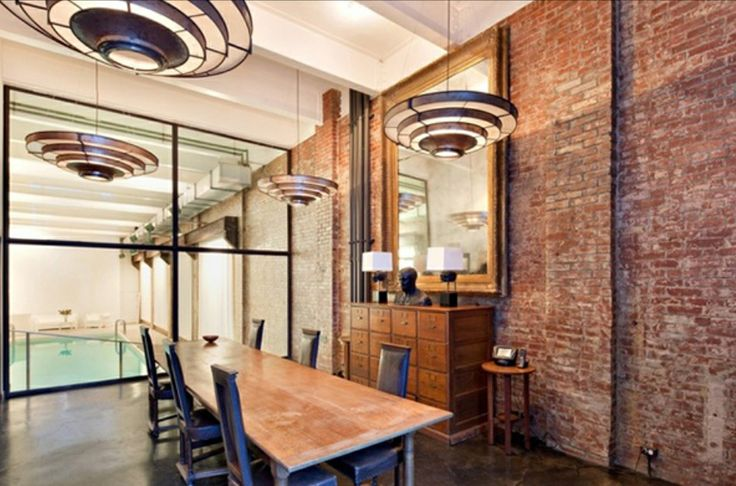 Dream Conference Room With Exposed Brick Conference Rooms - Contemporary soho loft with exposed brick and wood beams