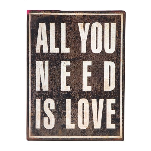 All you need is love vintage plaque