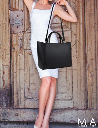 Emilia Collection | MIA Made in Italy | Exclusive Black Leather Bags for Women | Made in Italy Accessories https://madeinitalyaccessories.com/mia-handbags