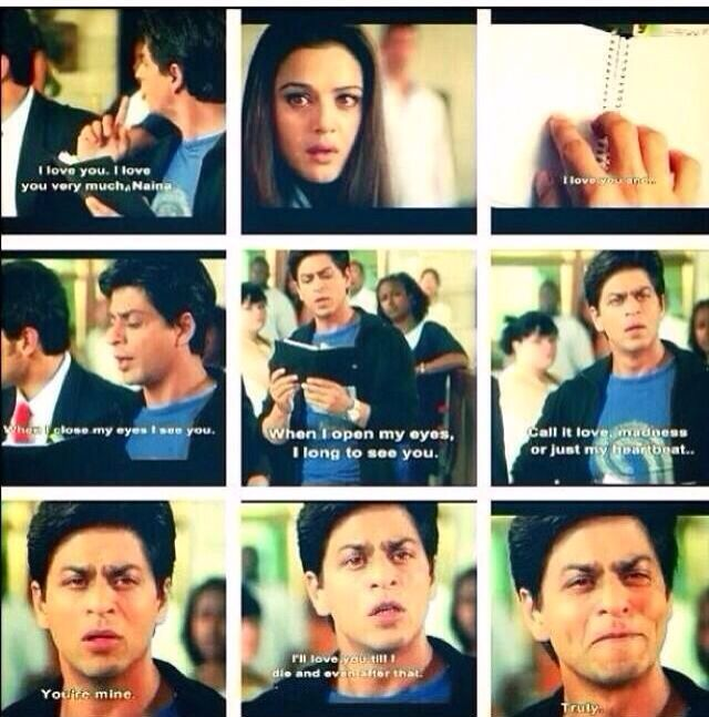 thanks Bollywood for raising my expectation of love. This will never happen.