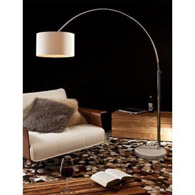 SalesFever Bogenlampe weiß groß »Alumi«