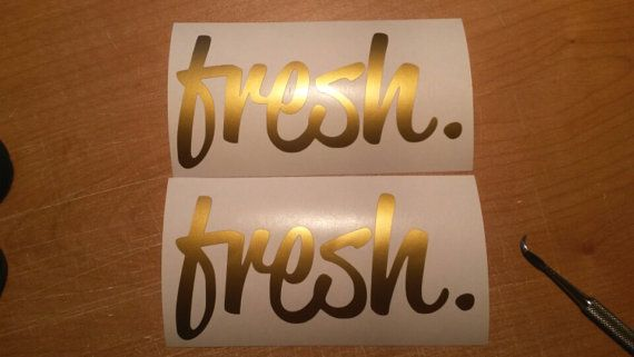 FRESH Buy 1 get 2nd free Gold Sticker Decal by BaysideDecalshop