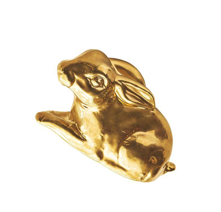 decori handle collection D77 CONIGLIO gold color. 100% hand made in Italy www.marchettimaison.com