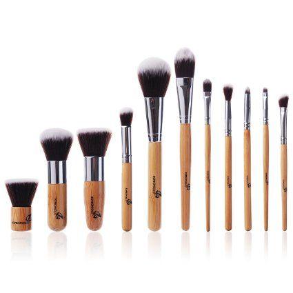 11 Stück Pro Make Up Makeup Bürsten Kosmetischer Komestik Puder-Werkzeug-Satz mit Tasche MT52