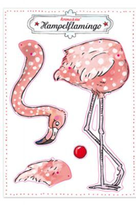 Bastelbogen Hampelmann Flamingo DIN A4