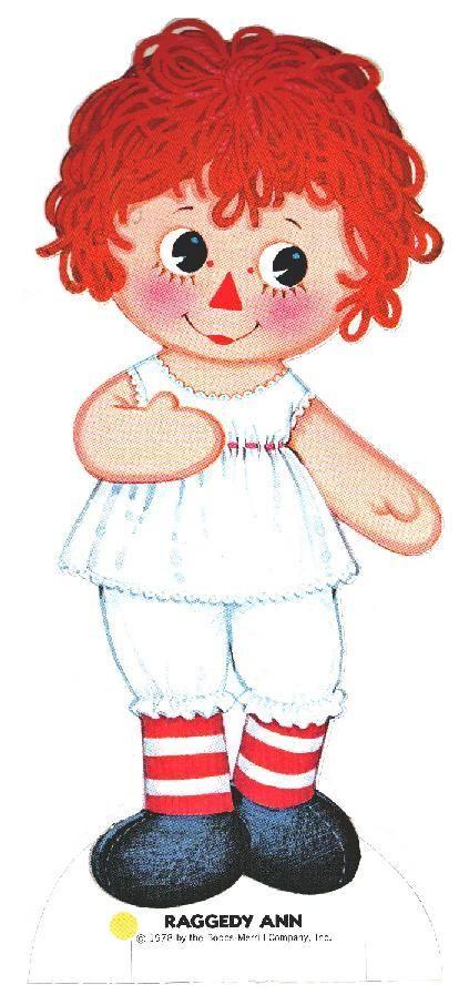 Raggedy Ann Paper Doll Free printable