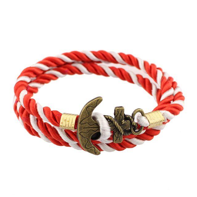 Drop Shipping Wholesale Bangle 10 Colors Hot Selling Antique Bronze Color Rope Anchor Bracelet Men and women, Wrap Bracelets - model 8