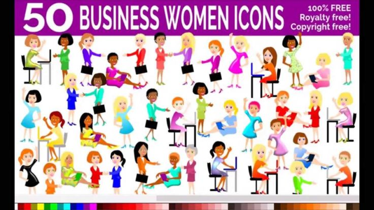 50 Free Business Women Icons to Download