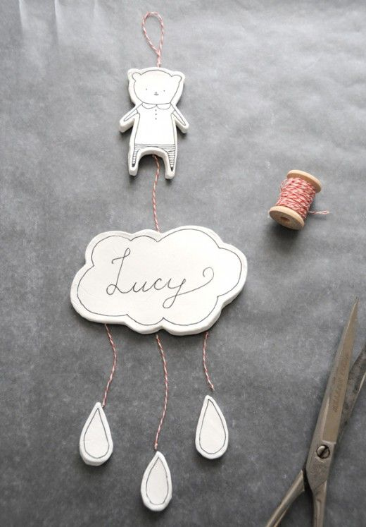 DIY Clay Nursery Mobile or Wall Hanging by Creature Comforts