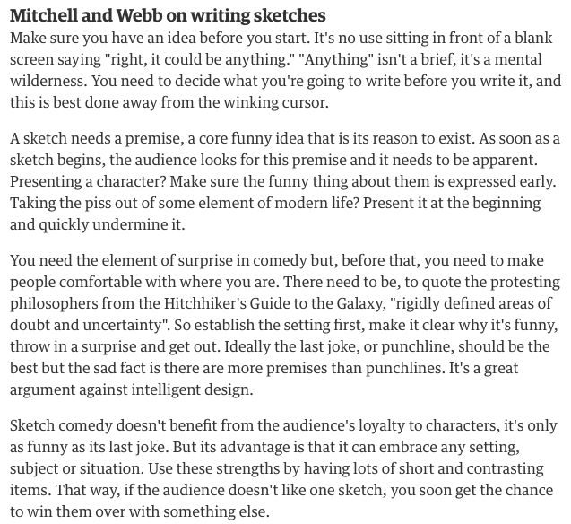 Advice On How To Write Comedy From Two Of The Best And Most Current Comedy Writers This Article Has Inspired Me To Write With Images Comedy Scripts Scriptwriting Writing