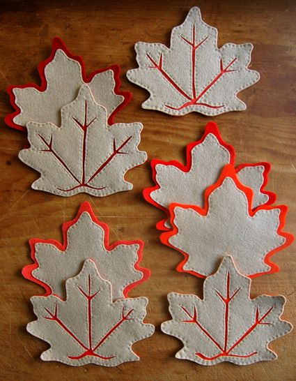 Fall Leaf Coasters - 25 Best DIYs for Trendy Hostess Gifts