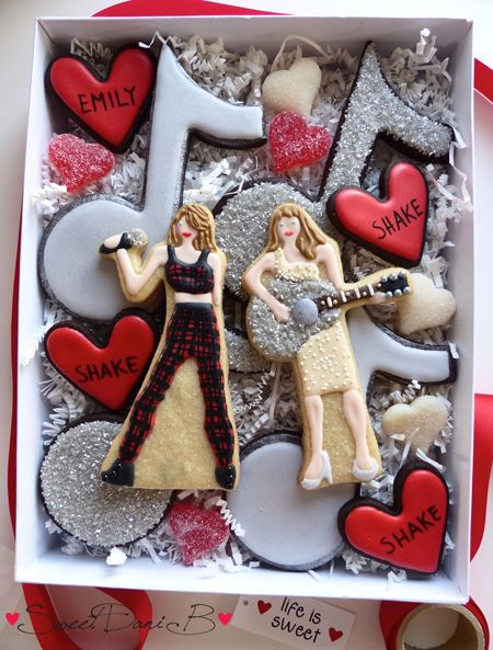 """We made a special """"Shake Shake Shake"""" cookie box for the birthday girl!"""
