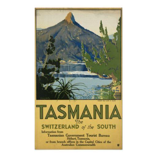 Tasmanian Vintage Travel Poster...