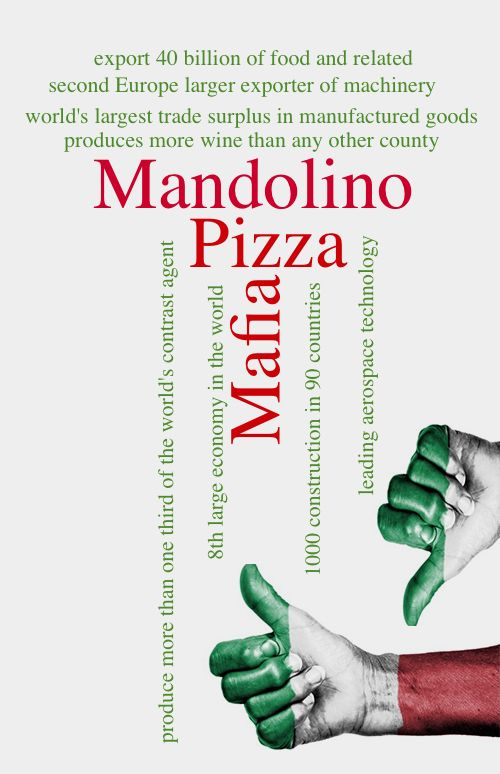 Italy Is an extraordinary commonplace Mandolino is a music instrument!!!!!  La pizza is awesome!!!!!   Mafia does not eXist!!