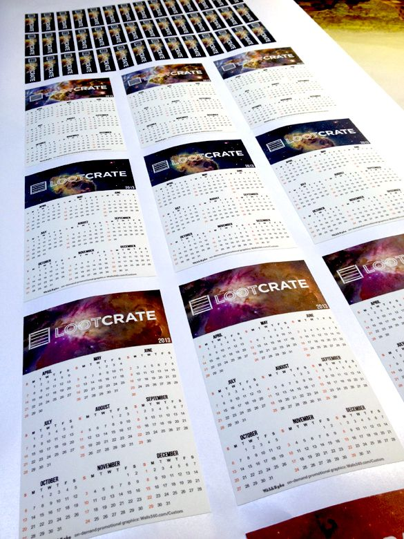 WALLS 360 Custom Promotional Calendars for Loot Crate!