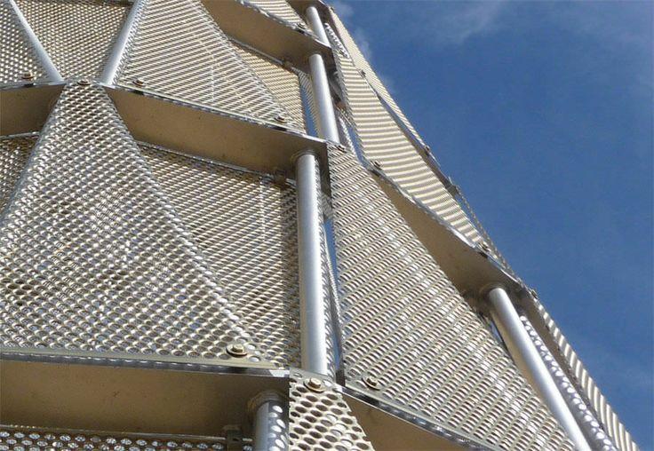 Round Aluminium Panel : Perforated sheet metal panel round holes unmc tower