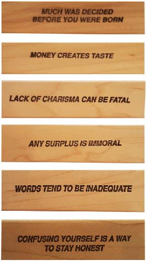 Rubber Stamps (Set of Six) - Jenny Holzer