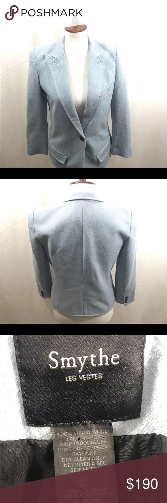 Smythe Les Vestes Virgin Wool Career Blazer Smythe Les Vestes Virgin Wool Career Blazer Women's Size 6-Blue Smythe Jackets & Coats Blazers