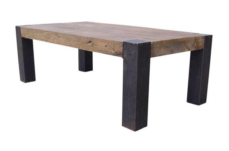 Complete Woonkamer Ideeen : Industriële salontafel 130cm Farmer ...