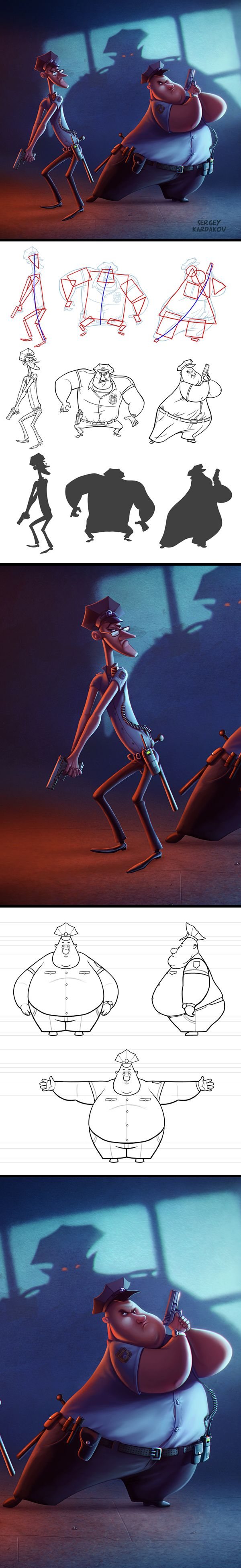Illustration mix by Sergey Kardakov, via Behance