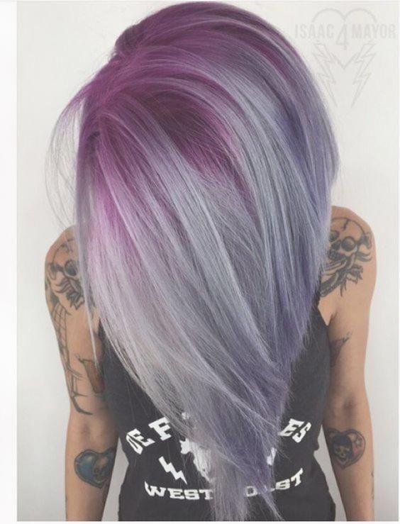 10 Hubsche Pastell Haar Farbe Ideen Mit Blond Silber Lila Und Rosa
