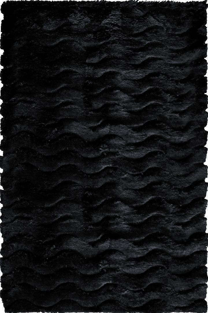 Super Shaggy Plain Rugs  3630 Black Black Add warmth and texture to your room with the Super Shaggy rug collection which is exactly as it's name suggests, thick and amazingly soft underfoot offering luxurious comfort for tired toes and feet.