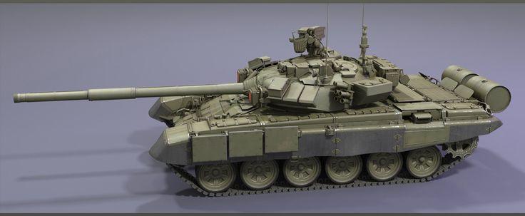 ArtStation - T-90 Tank (Armored Warfare), Audrey wong