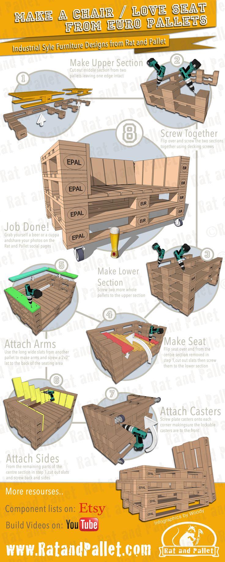 best 25 europaletten sofa ideas on pinterest sofa. Black Bedroom Furniture Sets. Home Design Ideas
