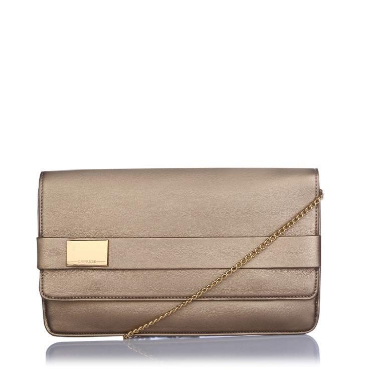 Caprese Maurine Clutch. Bronze color.  http://acebazaar.in/product/caprese-maurine-clutch-medium-bronze/
